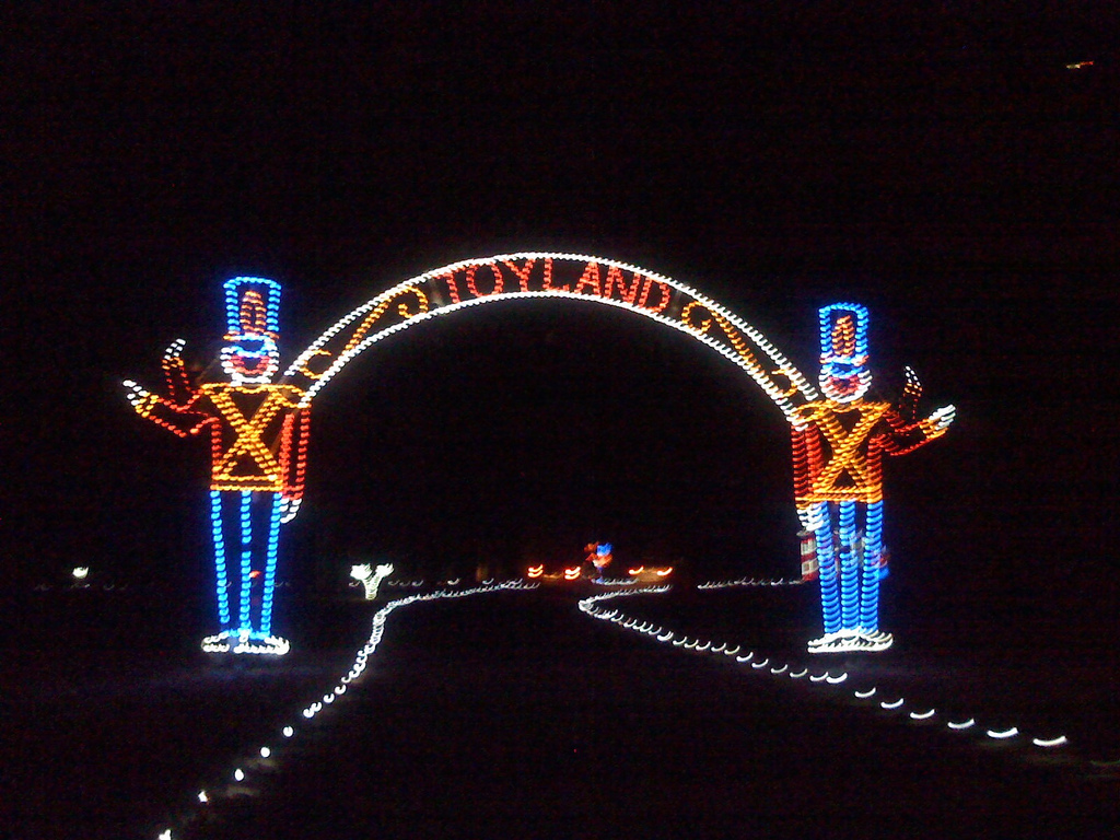 holiday light show in centreville