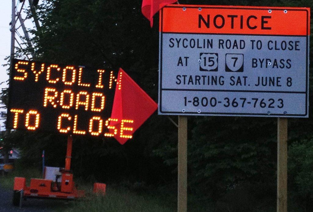 Sycolin Road Closing