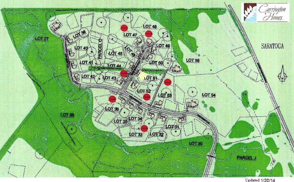 Saratoga site plan